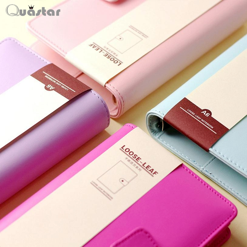 A5 A6 Macaron loose-leaf spiral notebooks stationery Multi-function notebook personal agenda planner organizer cuaderno lindo - Quastar Co.,Ltd. store
