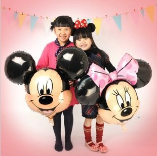 hot new 5pcs/lots Mickey Mouse cartoon Mickey Minnie aluminum balloons party balloons wholesale children's toys(China (Mainland))