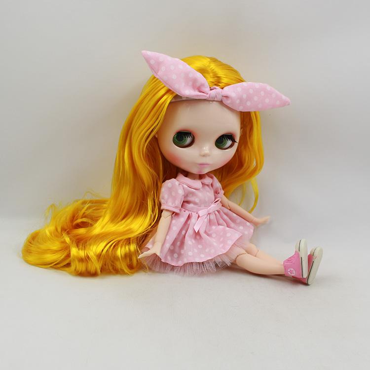 Фотография Blyth blond long hair 30cm fashion doll joint body nude doll diy  limited edition dolls collectibles