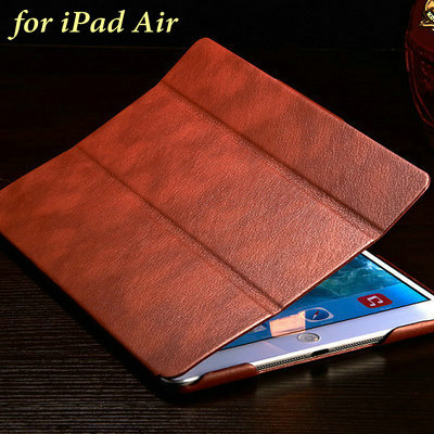 Ultra Slim PU Leather Case for iPad Air Flip Protective Shell Smart Cover for iPad 5 Vintage Fashion Style 5 Colors Drop Ship(China (Mainland))