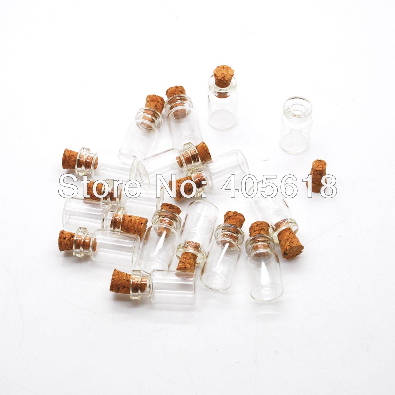 neue 100 st cke 0 5 ml fl schchen klar glasflaschen mit korken leere probe. Black Bedroom Furniture Sets. Home Design Ideas