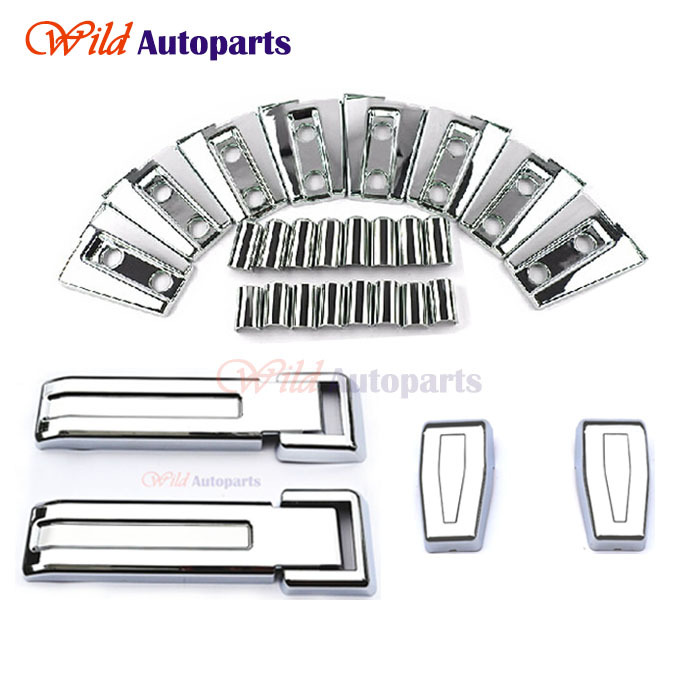 12pcs ABS Chrome Exterior Side Door + Rear Windows + Tailgate Hinge Cover Trims Set Accessories for Jeep Wrangler Jk 2007-2015(China (Mainland))