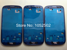 Original  For Samsung Galaxy S3 i9300 Front Housing Frame Bezel Plate Middle Frame Blue /White/ Black Free shipping (China (Mainland))