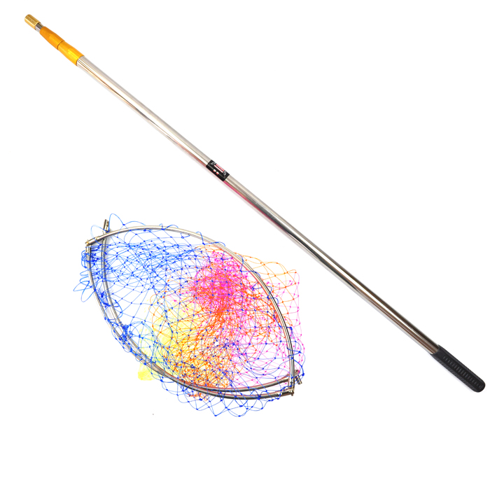 3 m stainless steel dip scalable location fishing nets for Dip net fishing