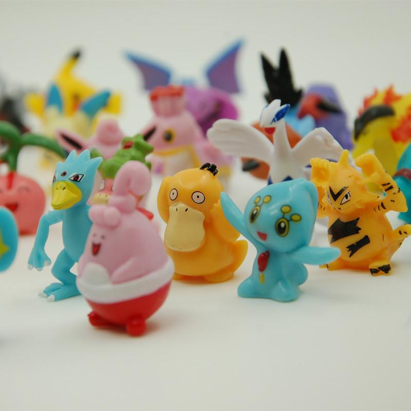 48 pcs/set Hot Toys Mini Action Figure Pokemon Ball Cartoon Anime Toys Mixed 2-3cm Pikachu Pokemon Go Figures Kids Toys(China (Mainland))