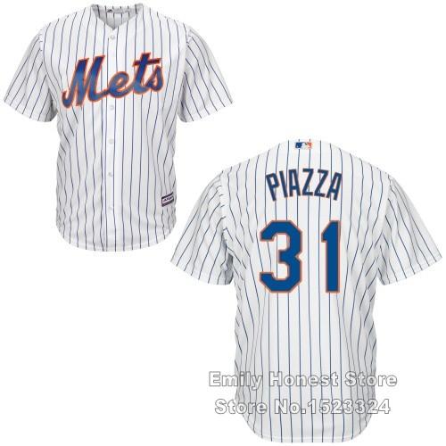 Kids New York Mets #31 Mike Piazza Youth jersey Cool Base Grey Blue Orange Black White stripe Hall Fame baseball jerseys