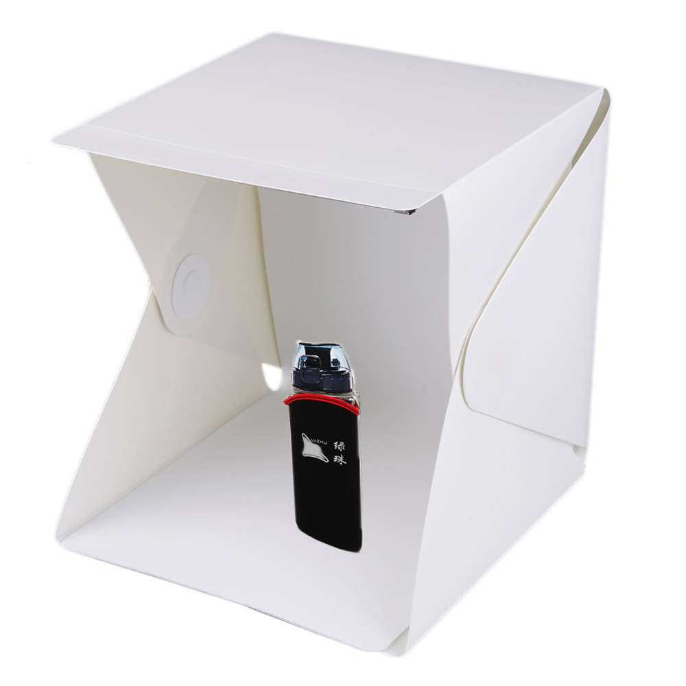Portable Mini Photo Studio Box Photography Backdrop built-in Light Photo Box with build-in LED free shipping tracking(China (Mainland))