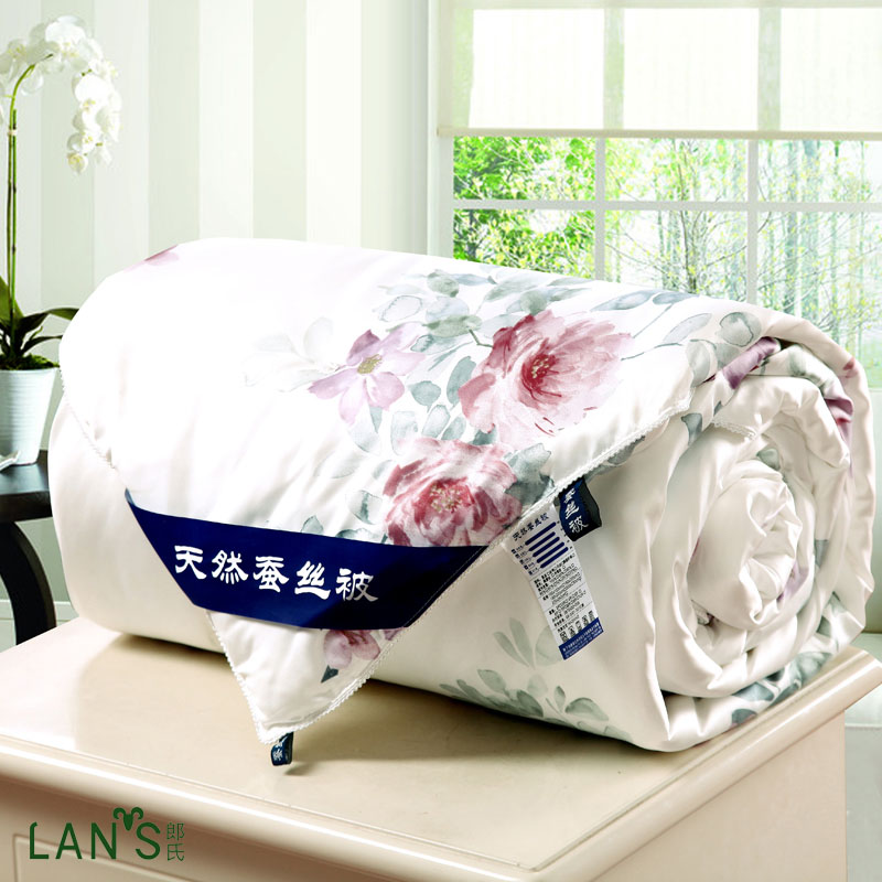Natural Silk Summer Quilts 2016 New Elegant Floral Blankets Bedspreads High Quality Cool Thin Comforters Twin Queen Size AG17(China (Mainland))