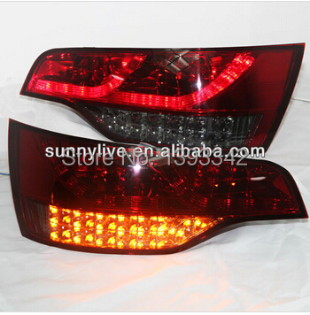 For Audi Q7 LED Tail Light Rear lamp 2006-2010 year Red Black(China (Mainland))