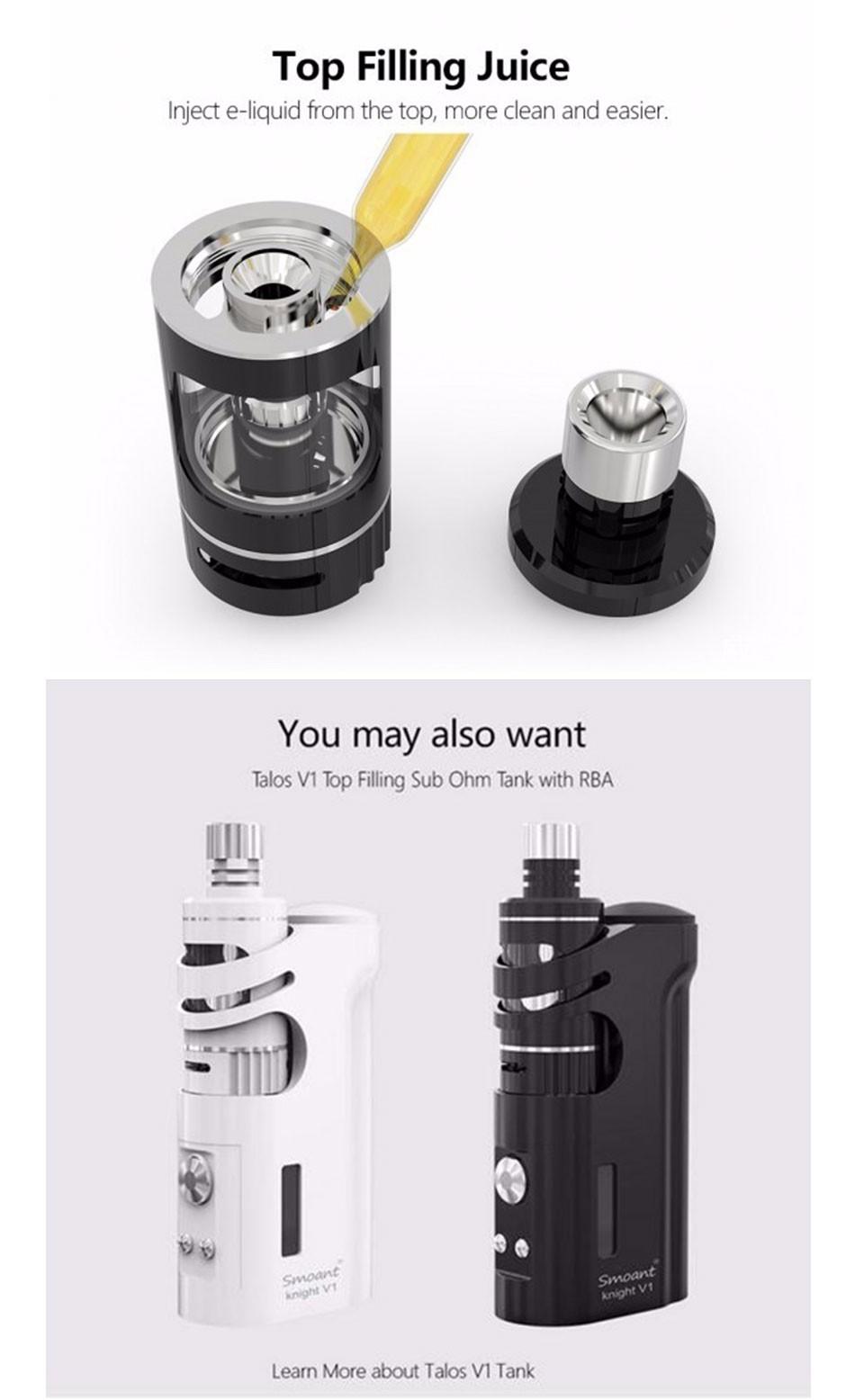 ถูก SmoantอัศวินV1 60วัตต์ชุดvapeอุณหภูมิควบคุมบุหรี่อิเล็กทรอนิกส์