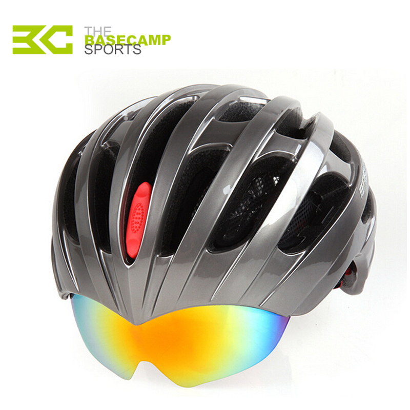 Basecamp EPS+PC Material Ultralight 27 Air Vents Cycling Helmet With 3 Lens Men Women Integrally-Molded Helmet Pass CE/SGS/CPSC<br><br>Aliexpress