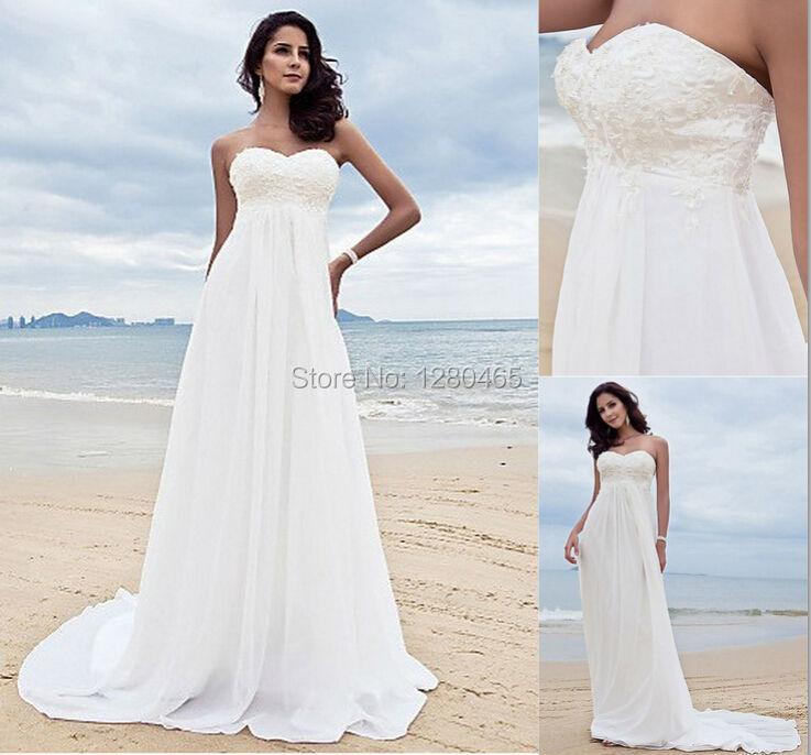 Beach maternity wedding dress dress wallpaper for Cheap destination wedding dresses