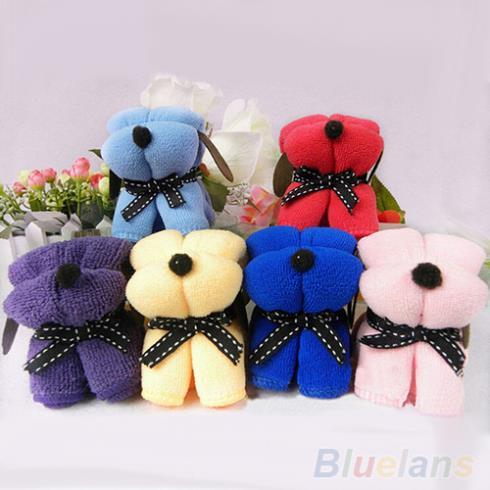 3Pcs Dog Cake Shape Towel Cotton Washcloth Wedding Gifts Present 1U5W 4APC(China (Mainland))