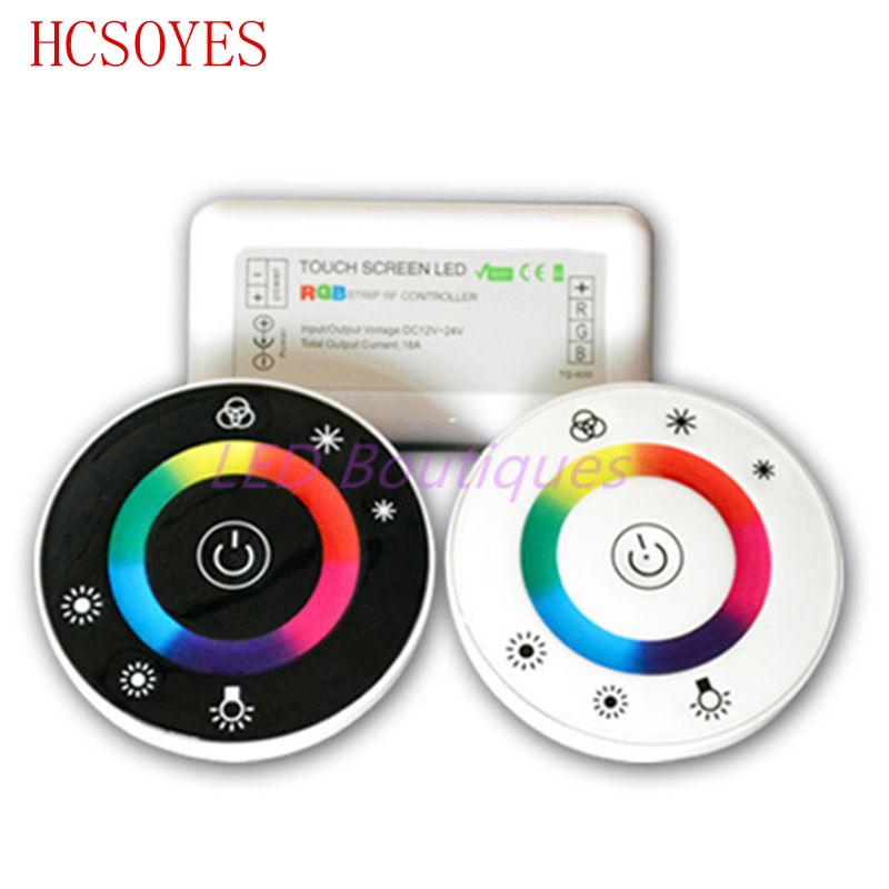 18A 7 Keys RF Remote controller LED Touch Round RGB Controller DC12V-DC24V(China (Mainland))
