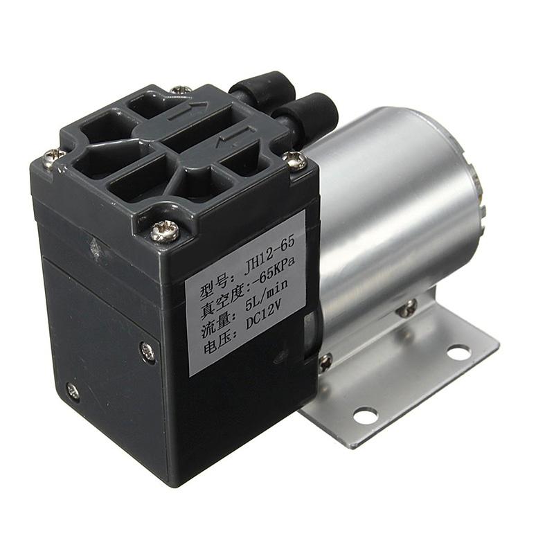 1pc Mini Vacuum Pump 12V 6W High Pressure Electric Diaphragm Pump with Holder 5L/min(China (Mainland))