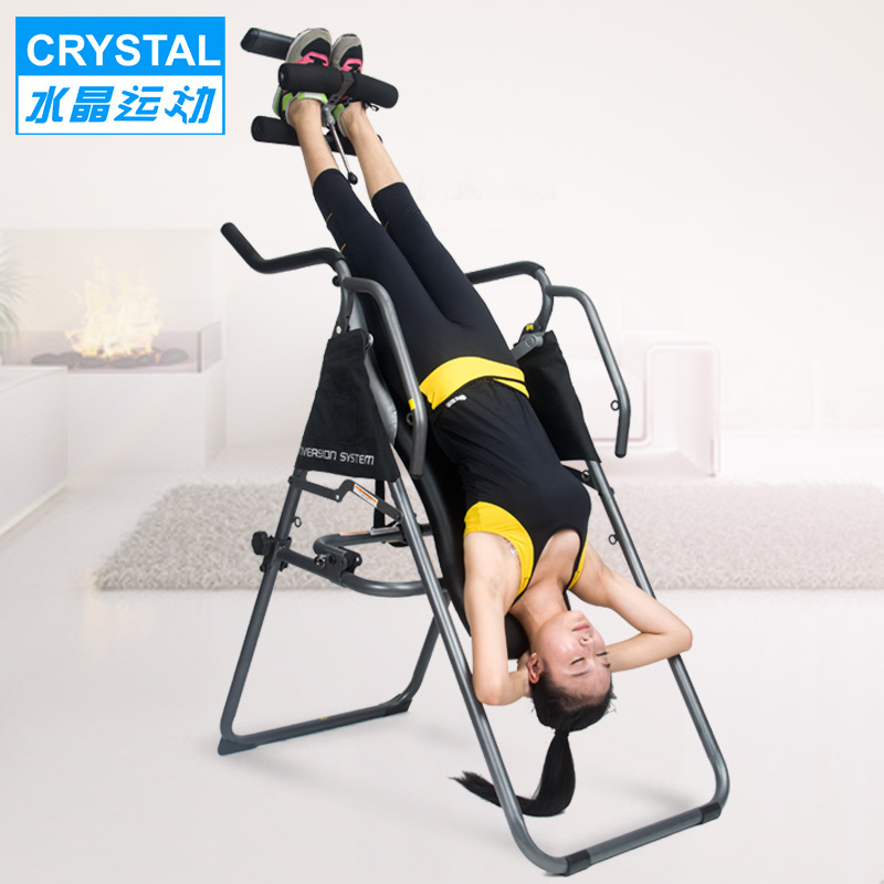 Crystal is inverted upside down handstand machine