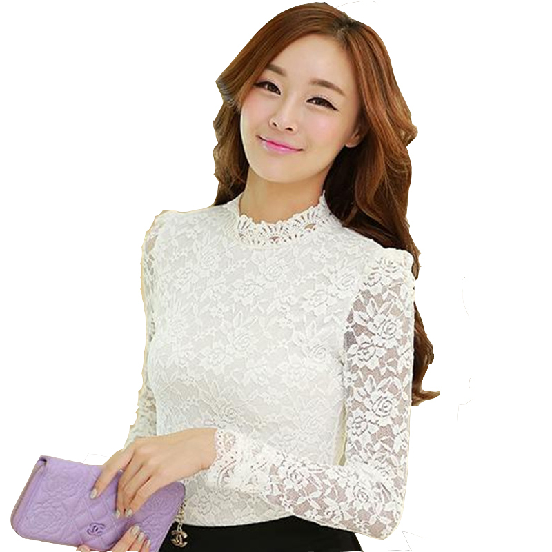 White Lace Blouse Long Sleeve Photo Album - Reikian