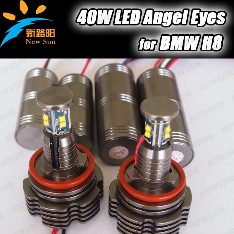 Фотография C REE led 40W H8 LED Angel Eyes for BMW Car auto Headlight LED Marker angel eyes for BMW 13 5 6 7 X Z series E87 E90 E60 E63 E64