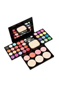 Free Shipping Hot 10 Color Makeup Cosmetic Blush Blusher Powder Palette 5PCS Soft Brush On Sale