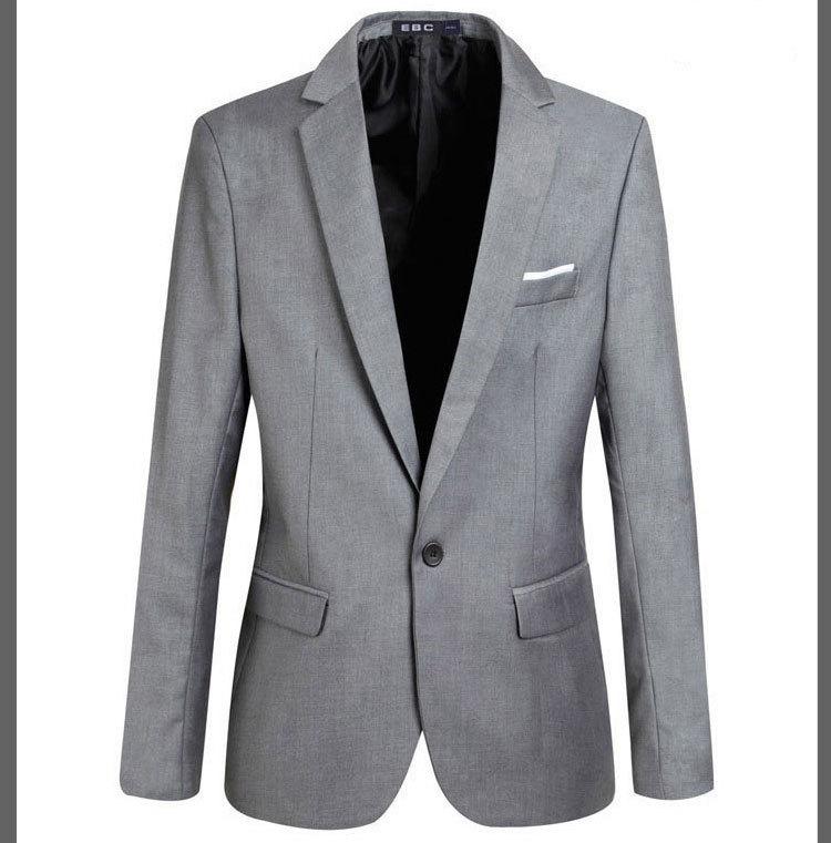 Free shipping 2015 new blazer men slim fit fashion cotton men suit quality unique mens blazers 3 colors plus size S-3XL 33wj