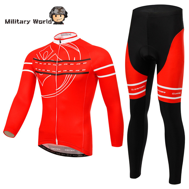 Men Cycling Jersey Bike Bicycle Long Sleeves Mountaion Windproof Jersey Clothing Shirts Pants Riding Jacket For Outdoor Sport