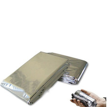 Emergency Blanket Survival Rescue Insulation Travel Gear Waterproof Dry Military Silver Outdoor Survival Equipment WD IQB018