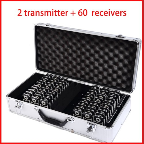 YARMEE YT100 Wireless audio tour guide system (2 pc transmitter+30 pc receivers+ Charge box) with fast shipping