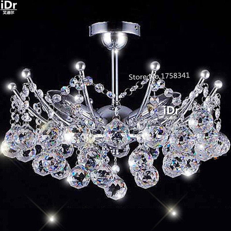 High-end European-style Mini Crystal Chandelier Chrome Finish christmas lights Hanging kit Bedroom lamp Hall(China (Mainland))