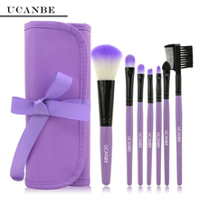 4 Color UCANBE Brand New Fashion Professional 7 pcs Makeup Brush Set tools HOT Make up