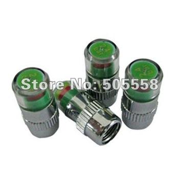 20pcs / Lot Auto Tire Pressure Monitor Valve Stem Cap Visual Warn Sensor Indicator 36 PSI