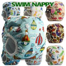 Baby Reusable 1PC Swim Diapers boys or girls Cartoon Swimwear Children adjustable summer swimming Nappy pants(China (Mainland))