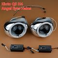 New Car Styling Q5 HID Bi xenon Lens Headlight Projector W CCFL Angel Eyes Halo H4