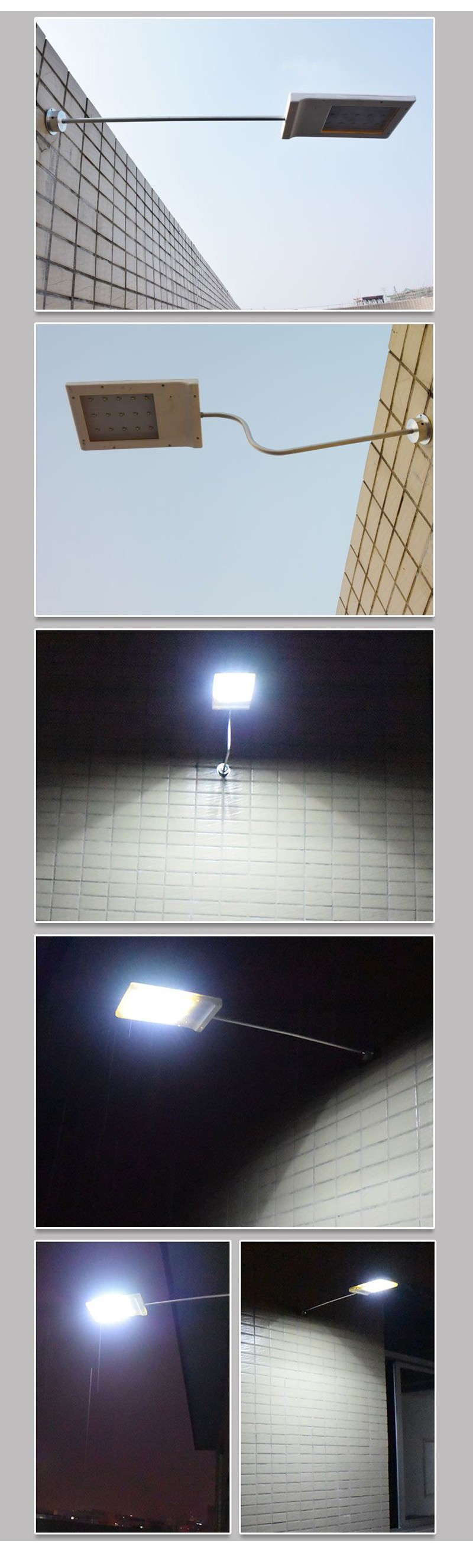 15 LED Street Lights Price Cheaper outdoor Lamp Solar Control Remote Path Wall Emergency Lamp ...
