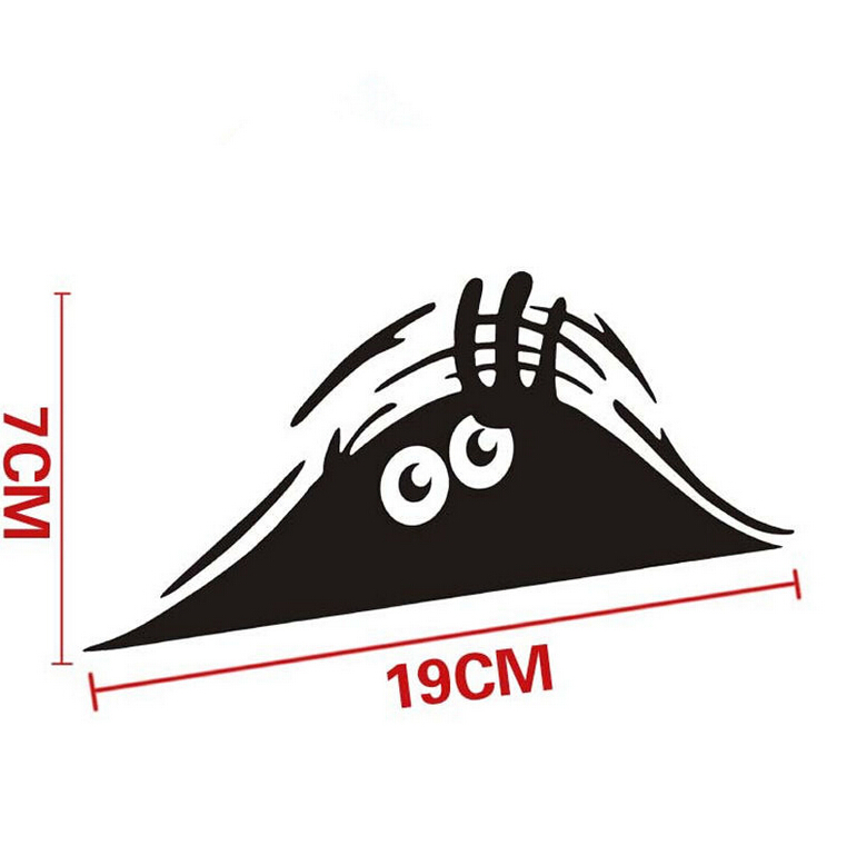 Car Stickers 7*19cm Funny Peeking Monster Auto Car Walls Windows Sticker Graphic Vinyl Car Decals Accessories(China (Mainland))