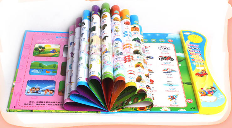 Children's electronic books to read audio baby early education learning machine points in both English and Chinese reading pen(China (Mainland))