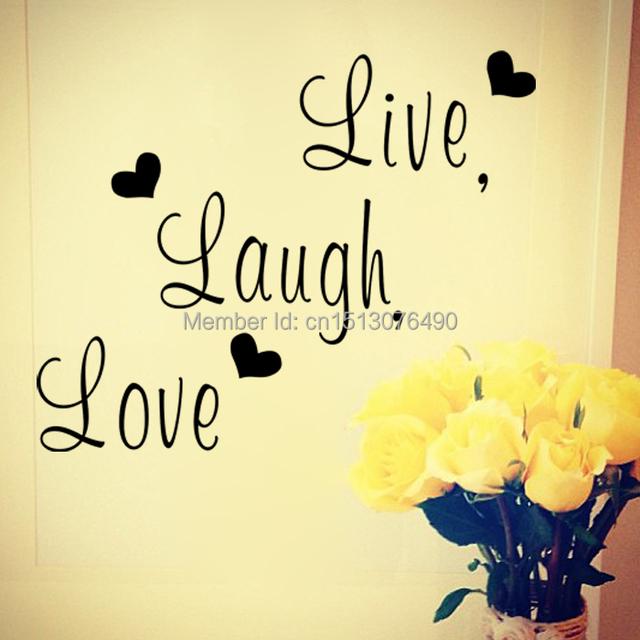 Онлайн смеяться любовь семья творческая наклейки на стены ZooYoo8176 декоративные декор стен съемный наклейки виниловые обои украшение дома