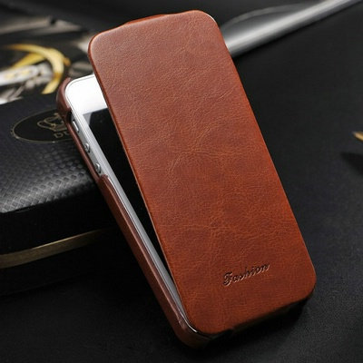 Vintage PU Leather Flip Case for iphone 4 4S 4G Phone Bag for iPhone4 Original FASHION Logo(China (Mainland))