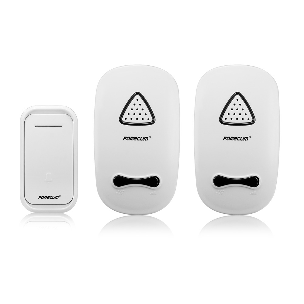 Hot Wireless Doorbell 38 Chimes Doorbell with Two Receivers 100m Range for Home Office 180-240V F4369B<br><br>Aliexpress