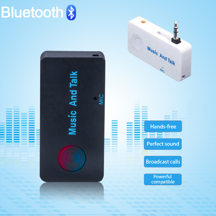 2015 Universal Wireless Handsfree Bluetooth Car Kit Bluetooth Music Receiver For Mobile Phone Android IOS(China (Mainland))