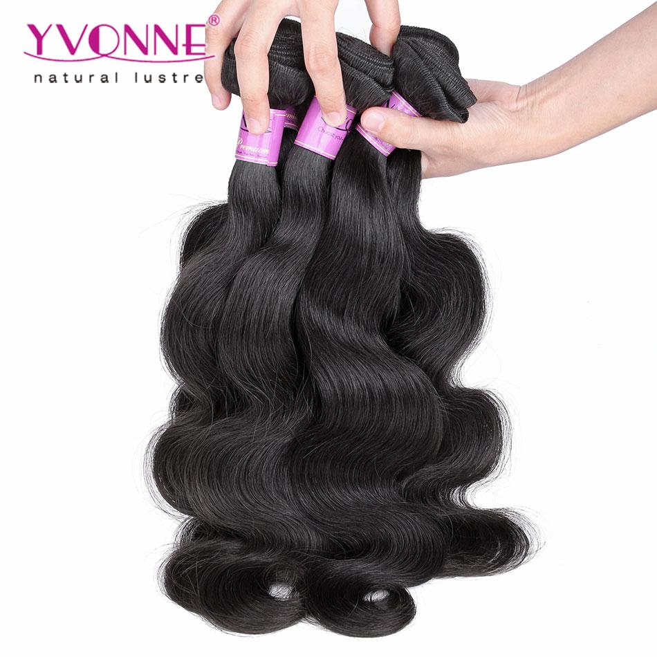 7A Grade Brazilian Virgin Hair Body Wave,4Pcs/lot Human Hair Extension,Top Quality Aliexpress YVONNE Hair Products(China (Mainland))
