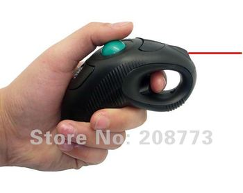 Handheld Finger 2.4G Wireless Mouse with laser pointer + Free shipping