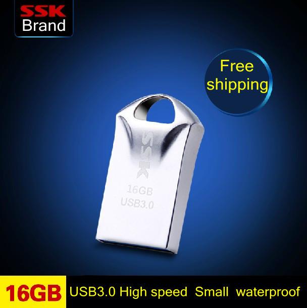 SSK SFD230 small king kong 100% 16G USB 3.0 MINI USB Flash Drives high speed metal 16G Pen Drive Memory Usb Stick Free shipping(China (Mainland))