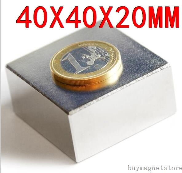 40X40X20 rare earth  Craft Model Powerful Strong Rare Earth NdFeB Block Magnet N50 Magnets 40*40*20 mm<br><br>Aliexpress