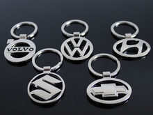 Mixed Plated Zinc Aolloy 3D Car Auto Logo Hollowed Keychain Key Ring Fob For Toyota Lexus Kia Suzuki Renault(China (Mainland))