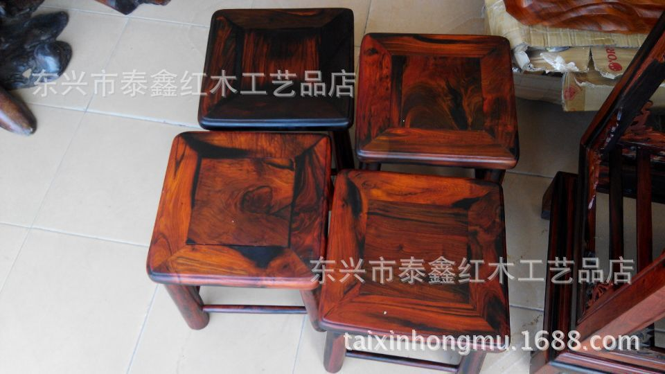 Vietnam, Laos, four square stool wood mahogany furniture mahogany bench bench rich off their shoes small stool stool(China (Mainland))