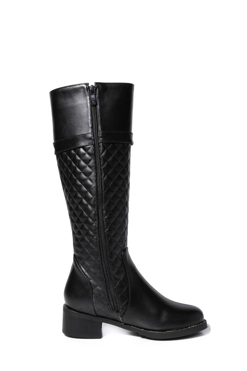 Apricot/Black Boots 2015 Women's Winter Low-heel Knight Boots Round Comfortable Stylish Calf Boots Rivet Women Warm Short Plush