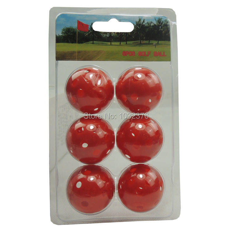6 PCS golf ball boxes of golf blister box packing golf gift Perforated golf ball(China (Mainland))