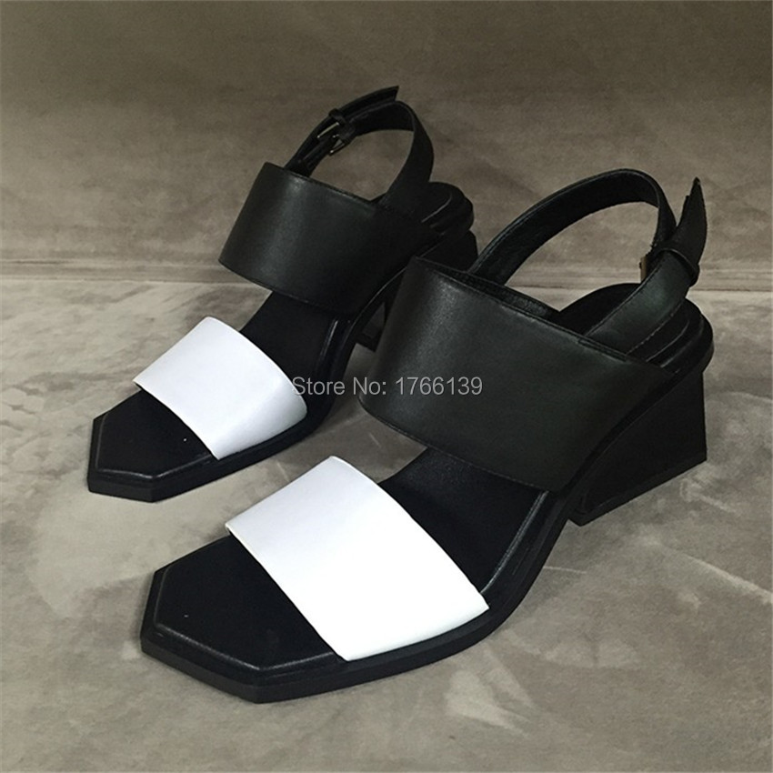 Fashion Women Strange Thick Heel Sandals Summer Shoes Woman Colorful High Heel Gladiator Sandals Women Pumps Sandalias Mujer