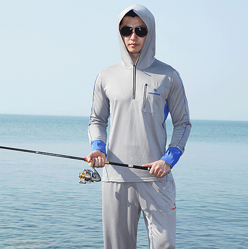New men women brand fishing clothing sun protection for Spf shirts for fishing