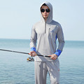 New men women Brand fishing clothing sun protection clothing long sleeved hooded fishing shirt breathable wicking